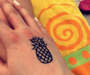 beach, henna, and henna tattoo image
