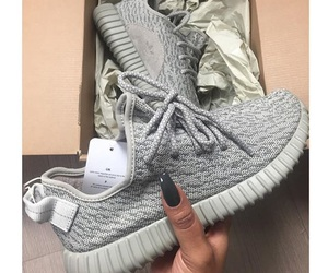 shoes, yeezy, and grey image