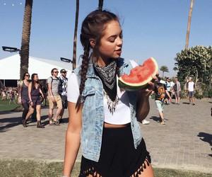coachella, watermelon, and summer image