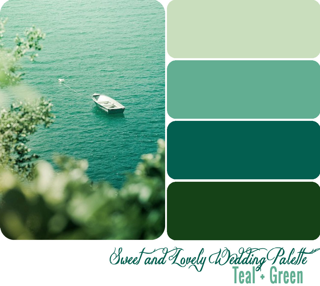 Wedding Color Palette / Teal + Green | Sweet and Lovely Life