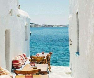 travel, Greece, and mykonos image