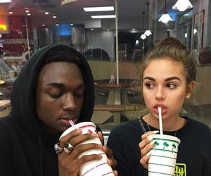 girl, maggie lindemann, and boy image