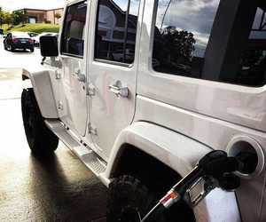 jeep, gasoline, and white image