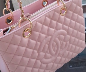 chanel, pink, and bag image