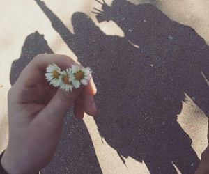 flowers, girls, and shadow image