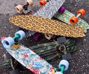 skate, skateboard, and penny image