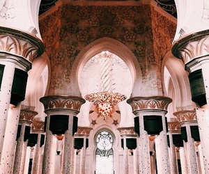 rose gold, architecture, and pink image