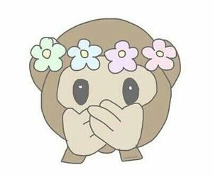 emoticon, emoji, and flowers image