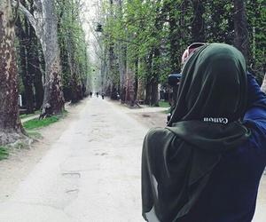 camera, girl, and nature image
