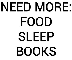 books, food, and frases image