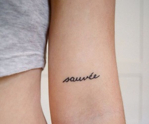 tattoo, french, and sauvée image