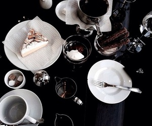food, cake, and coffee image