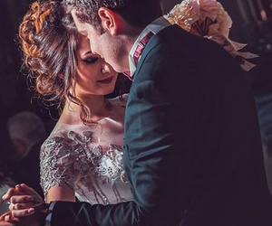 beautiful, couple, and dress image
