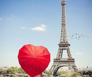 heart, red, and paris image