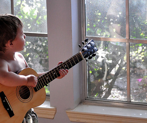 guitar, boy, and child image