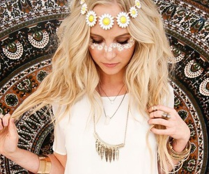 candice accola, flowers, and hair image