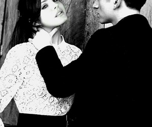 alex turner, black and white, and lana del rey image