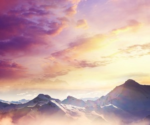 mountains, sky, and wallpaper image
