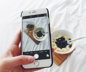 iphone, food, and breakfast image