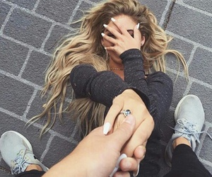 adorable, couples, and girl image