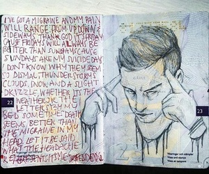 art, drawing, and Lyrics image