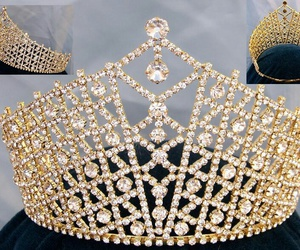 bride, crown, and gold image