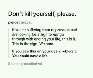 depression, I Love You, and quotes image