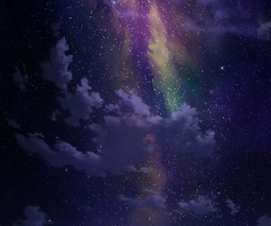 sky, stars, and night image