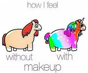 makeup and unicorn image