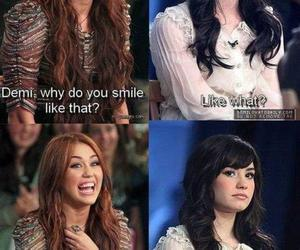 demi lovato, miley cyrus, and smile image