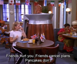 pancakes, friends, and funny image