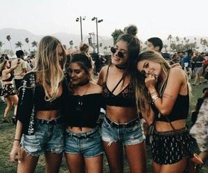 friends, girl, and coachella image