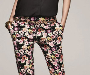floral pants, floral fashion, and floral pants fashion image