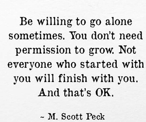 alone, independent, and quote image