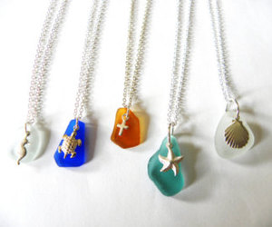etsy, beach fashion, and seahorse necklace image