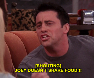 friends, food, and joey tribbiani image