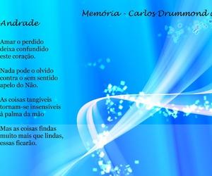 carlos drummond de andrade, poesias, and memoria image