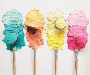 cupcake, food, and art image