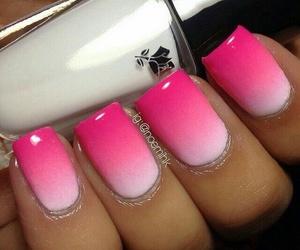 nail art, pink, and white image