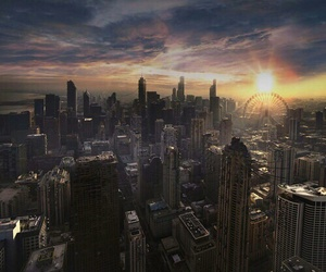 divergent, chicago, and city image