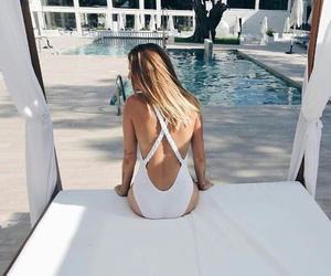 summer, fashion, and pool image