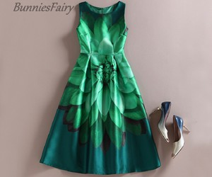 dress, emerald, and green image