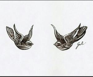 Harry Styles, bird, and tattoo image