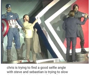 captain america, chris evans, and sebastian stan image