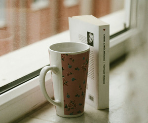 book, cup, and indie image