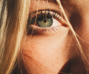 eyes, green, and blonde image