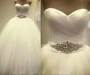 dress, pretty, and wedding dress image