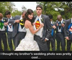 wedding, superman, and cool image