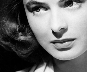black and white and ingrid bergman image