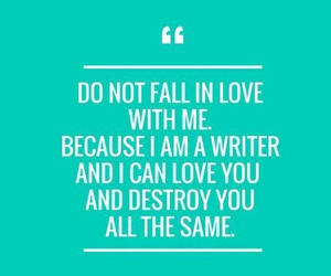 writer, love, and girl image